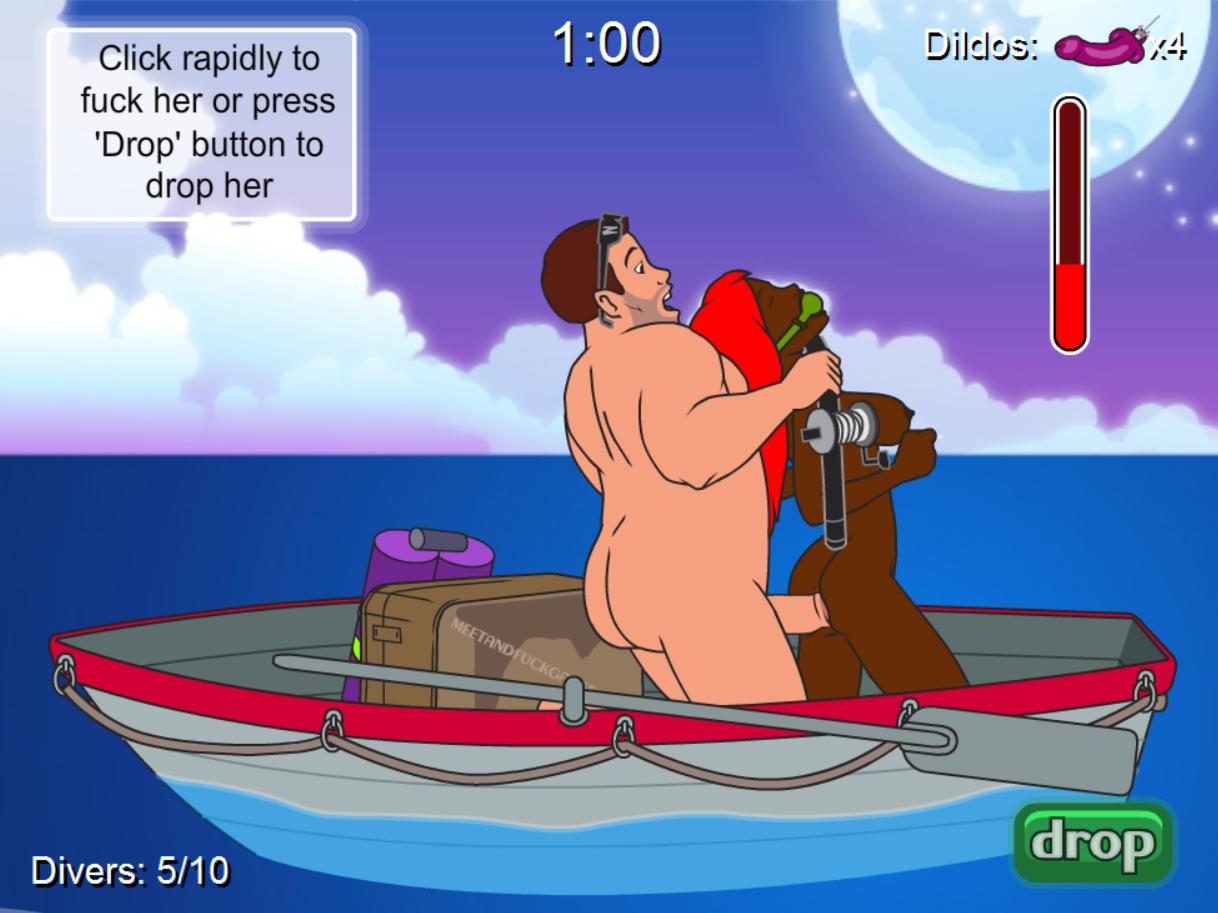 Порно игра рыбалка