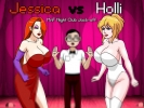 Jessica vs Holli MnF Night Club Jack-off