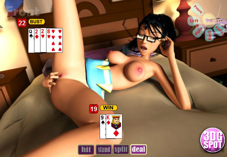 Порно игра в блэк джек на раздевание с девушками